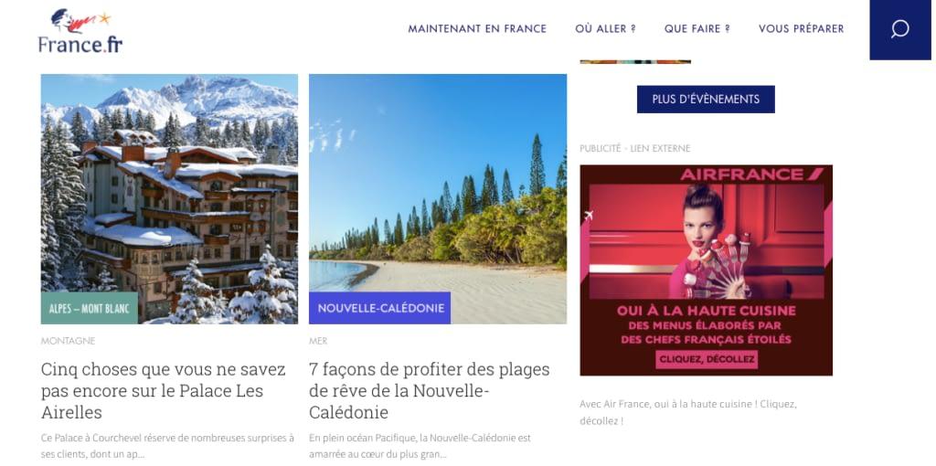 portail destination France