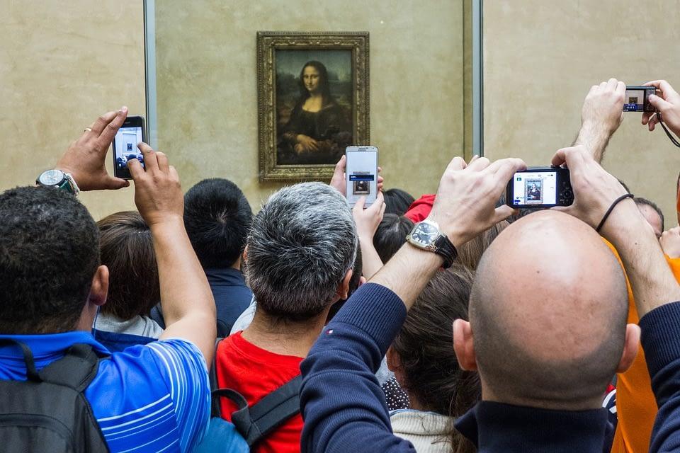 foule touristes Louvres